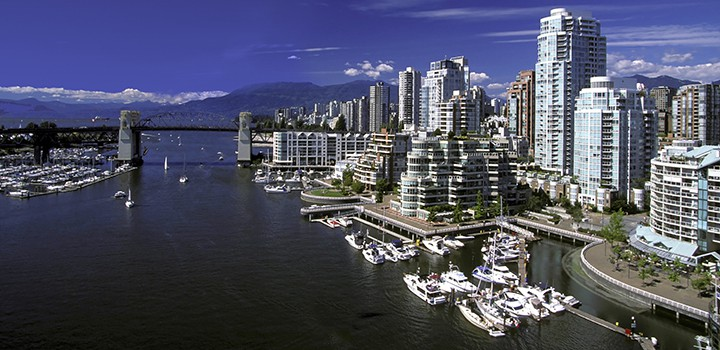 View of Vancouver's Harbour from False Creek